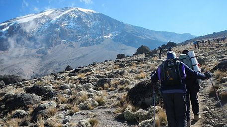 Hikers on the Lemosho Route Mt. Kilimanjaro