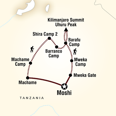 Machame Route Map