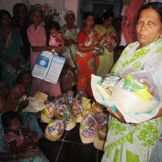 Working towards ensuring grocery to the poor in Covid-19 crisis.