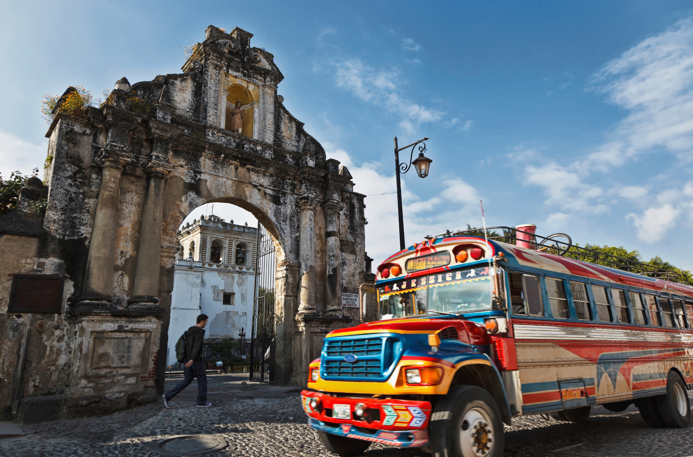 Antigua-chicken-bus