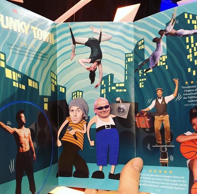 Show Flyer der Varieté Show Funky Town im GOP Variete Essen