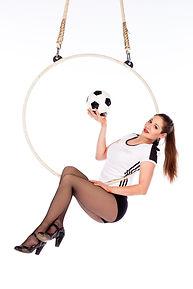 Luftring, Luftakrobatik, Aerial Hoop, Fußball