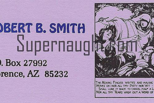 Robert Benjamin Smith Signed Business Card