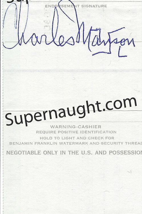 Charles milles manson autographs