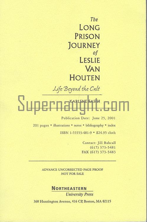 Leslie Van Houten book advance copy