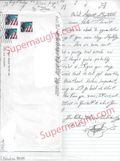 Chelsea Richardson Signed Letter