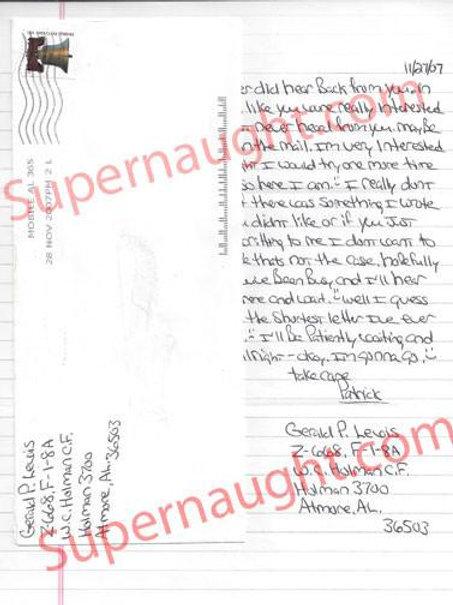 gerald patrick lewis letter