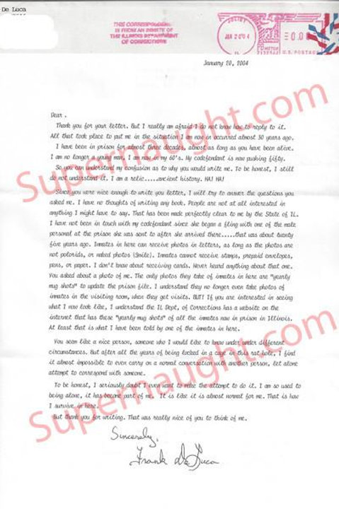 frank deluca letter