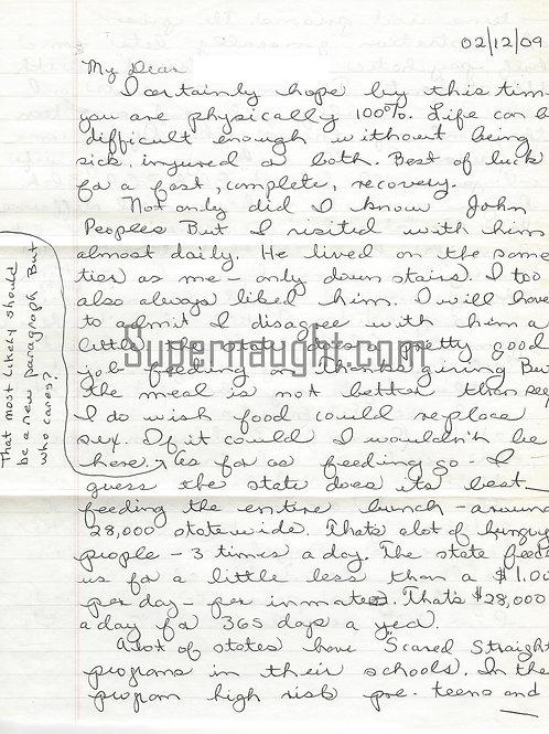 Jack Trawick letter