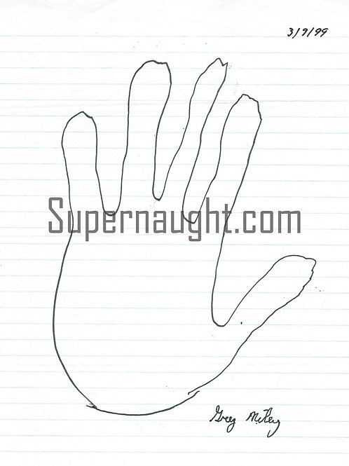 Greg Miley Signed Left Hand Tracing