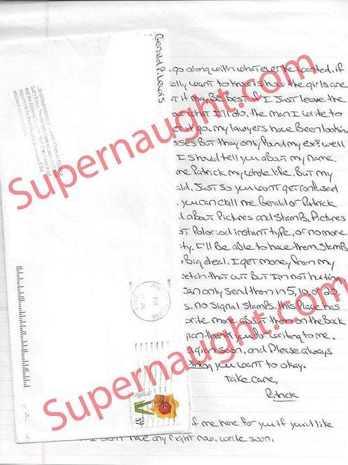 Gerald Patrick Lewis Signed Letter and Envelope Set Signed - Deceased