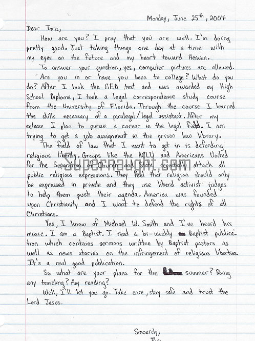 nathaniel brazill letter