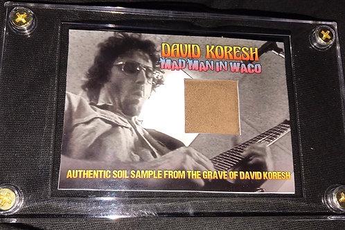 David Koresh Grave Soil Collector Card