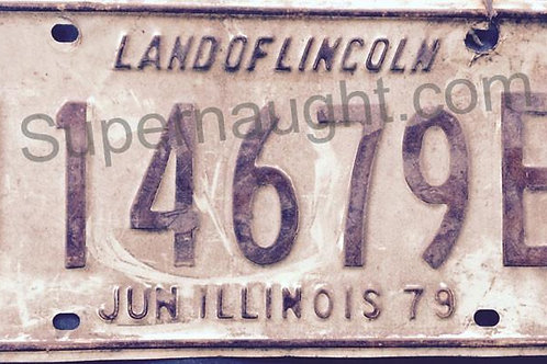 John Wayne Gacy Snowplow License Plate