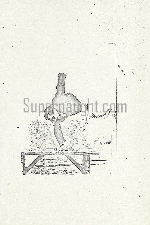 Johnny Eck Signed Hand Stand Photo