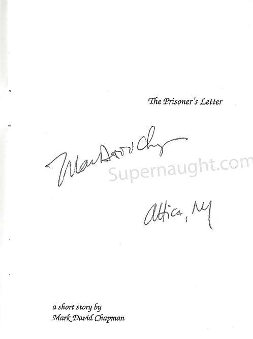 Mark David Chapman autograph