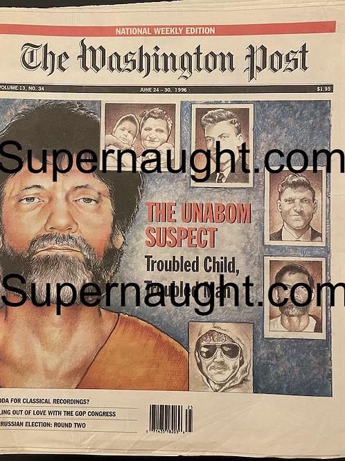 Ted Kaczynski vintage paper