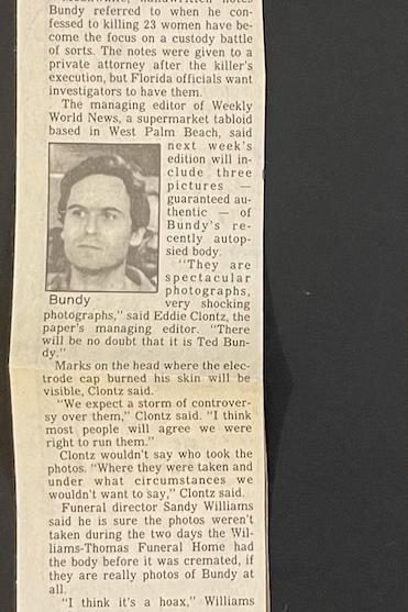 Ted Bundy tacoma news tribune