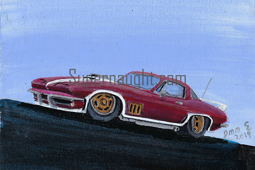 Vintage Ford Mustang Prison Painting