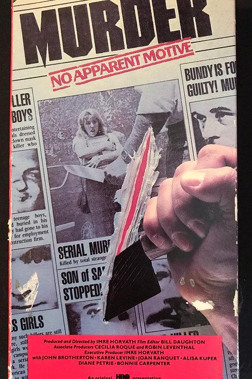 Murder No Apparent Motive 1984 VHS Ed Kemper