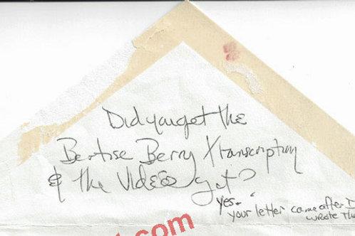 Sandra Good Manson Family Note Written on Envelope