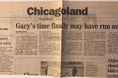 John Wayne Gacy newspaper