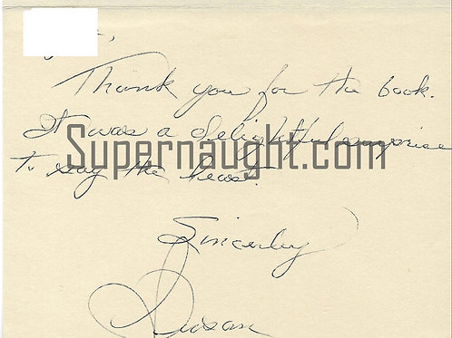 Susan Atkins Card And Envelope Set Both Signed