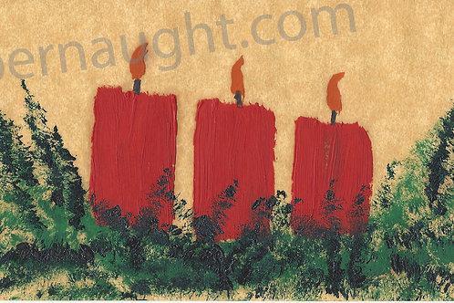 John Wayne Gacy Christmas Card Artwork Signed