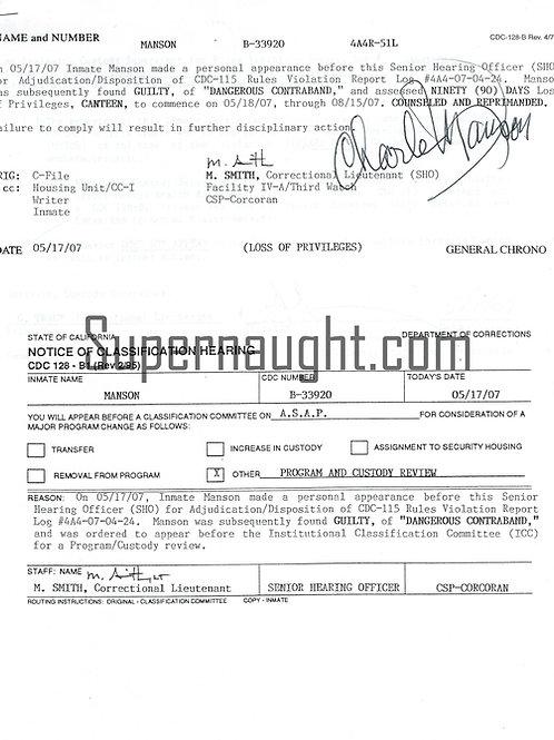 Charles Manson violation