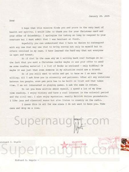 Richard Angelo letter