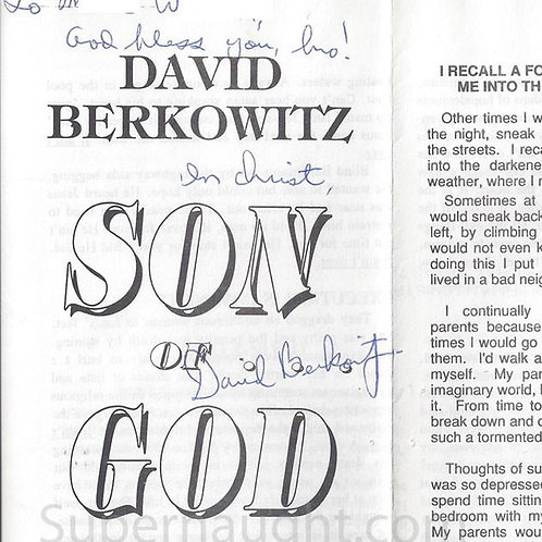 David Berkowitz Signed