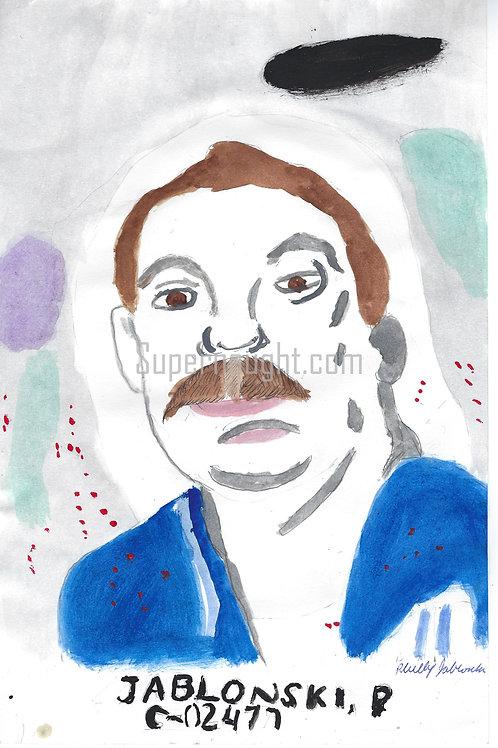 Phillip Jablonski self portrait painting