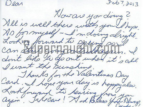 Cynthia Coffman letters