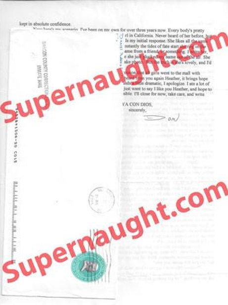 Daniel Robbins Signed Letter and Envelope Set
