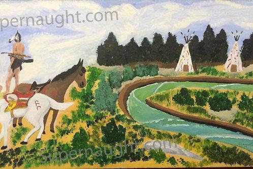 Henry lee Lucas oil painting