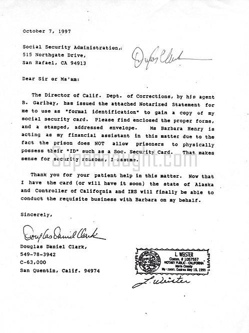 Douglas clark letter