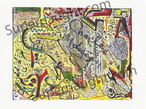 Charles Manson Abstract Artwork Print