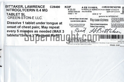 Lawrence Bittaker Signed Prescription Package