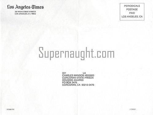 Charles Manson LA Times Subscription