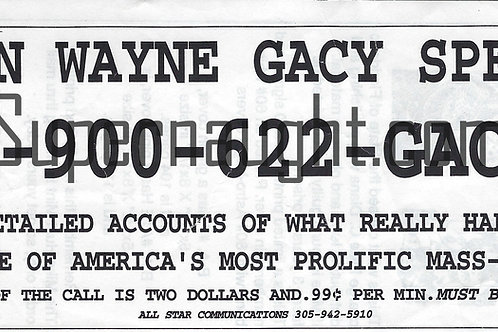 john wayne gacy 900 number
