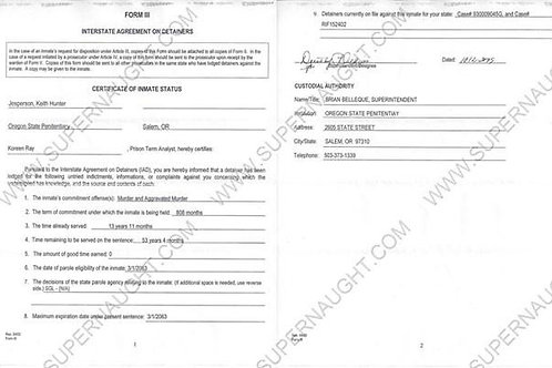 Keith Jesperson Interstate Agreement On Detainers