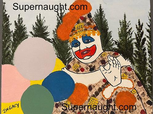 John Wayne Gacy Patches the Clown Painting