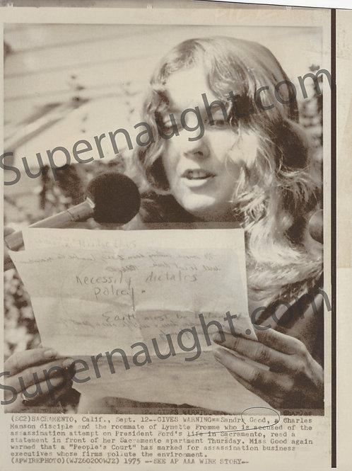 Sandra Good Manson Family September 15 1975 Press Photo