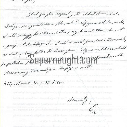Eric Rudolph letter