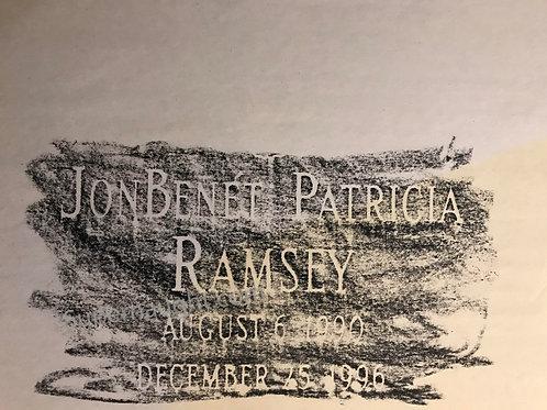 JonBenet Ramsey grave rubbing