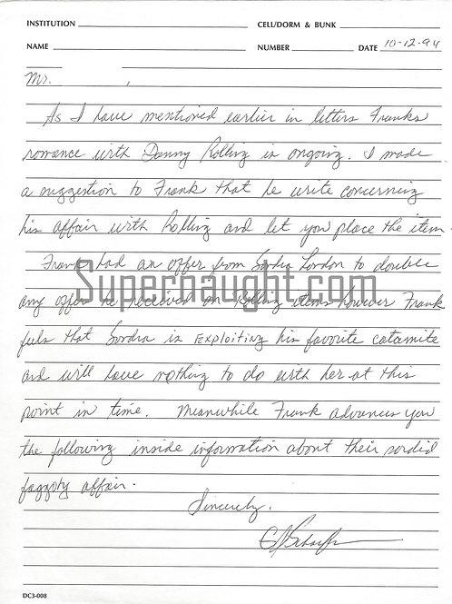 Gerard schaefer letter