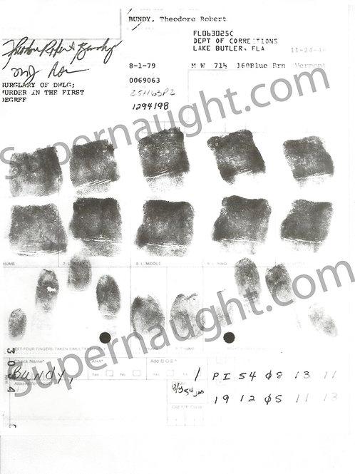 ted bundy finger prints