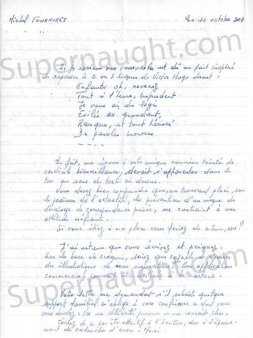 Michel Fourniret letter