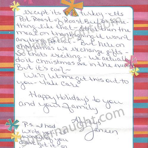 Janeen Snyder letter