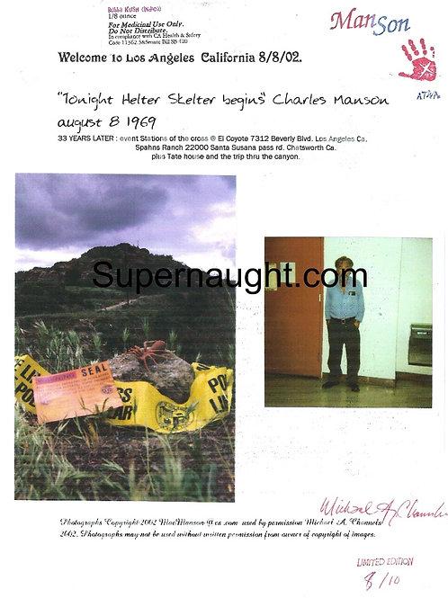 Charles Manson Polaroid